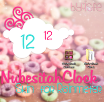 Skin For Rainmeter NubesitahClock by Isfe