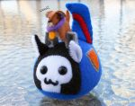 Thundercracker Puggleformer and Buster Puppy by callykarishokka