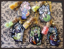 Ramune Girl Necklaces 1 by Kizziesama