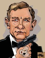 Fun little Bond caricature by RougeDK