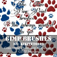 2 GIMP paw print brushes - Free download by RippedMoon