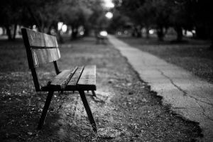 bench in park by S-t-r-a-n-g-e