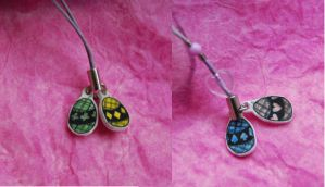heart egg phone charms by olive-happy