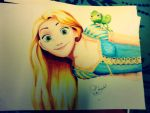 Copic- Rapunzel by chedil