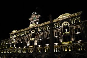 Trieste - City Hall by Night by dcheeky