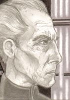 Grand Moff Tarkin Sketch Card by EddieMcKee