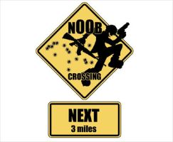 Noob Crossing by iEniGmAGraphics