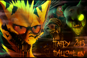 Happy Halloween 2013 by GoldenTigerDragon
