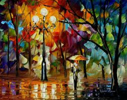 RAIN - Oil Painting On Canvas by Leonidafremov