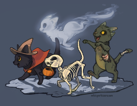 The Spooky Foursome by Mewitti