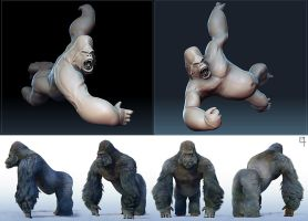 Gorilla 3D concepts by OmenD4