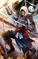 Edward Kenway- Black Flag (color) by WiL-Woods