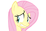 Awkward face Fluttershy vector by caramelpony