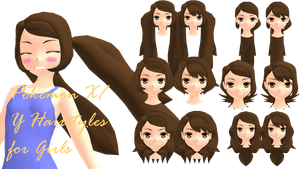 MMD Pokemon XY Girls Hairstyles DL by 2234083174