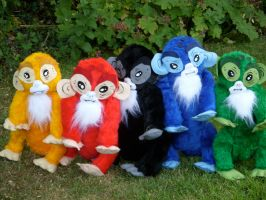 Monkey Babies by Caranth
