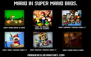 What Mario really doing in SMB by MarineACU