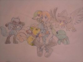My Oc Luke and his Pokemon Team by Loveponies89