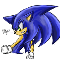 Sonic the hedgehog Colored by Moonlightjoy