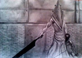 Pyramid Head Silent Hill by DanloS