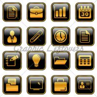 Office And Business Icons - Go by kingofvectors