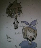 Kawaii, Chibis of Len and Rin by AlisaYeung