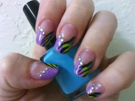 Acid Tiger Nails by MissDaniLips