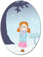 Little Lisa while winter by Pinutte