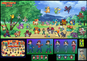 me and my sister in pokemon trainer 2013 by Naruttebayo67