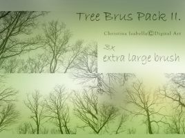 Tree Brush Pack II by ChristinaIsabella