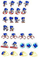 Ultimate Sonic Sprites by Sonicman98