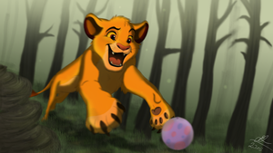Simba In The Forest by i-Grafix