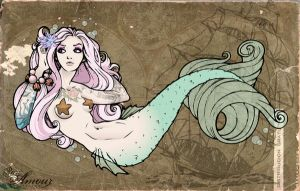 Mermaid Tramp Stamp Colored by kerinewton