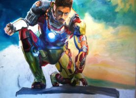 Giant Ironman Painting progress 17 by dARk-knighT4