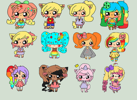 All my oc's by Chibii-chii