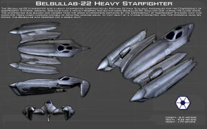 Belbullab-22 heavy starfighter ortho [New] by unusualsuspex