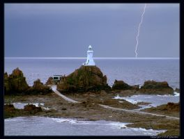 Lighthouse Lightning by unclejuice