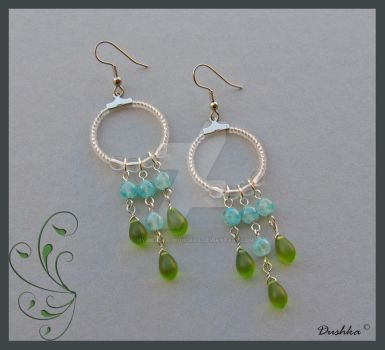 No.107 Green drops by My-beaded-wonders