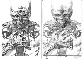 Ultimate Red Skull Inking Practice by controllingtime