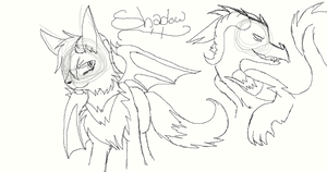 Random Character Redesign Sketch: Shadow by Hollowed-Chimera