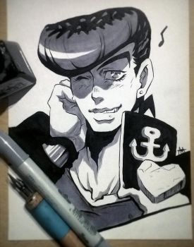 JJBA - Smile (Traditional) by 7Repose