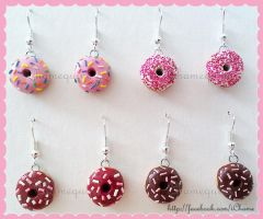 Doughnut Earrings by iChame