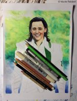 Loki (mixed media) WIP by Quelchii