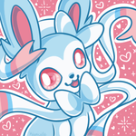 F2U Shiny Sylveon Icon by Kiwicide