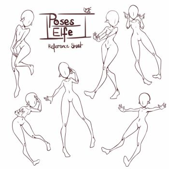 Pose reference - Elfe by carhingin