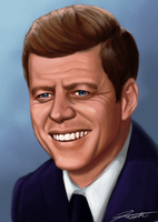 John F. Kennedy Speed Paint by DJCoulz