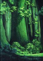Green forest by sinammonite