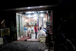 hair salon during the night by macgl