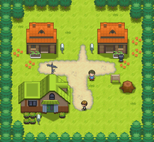Littleroot Town remake by Pokemon-Diamond