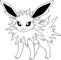 Jolteon-lines by Sulfura