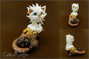 Custom: Griffin - polymer clay by CalicoGriffin